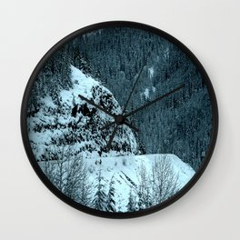 The Road Curves Upward Wall Clock