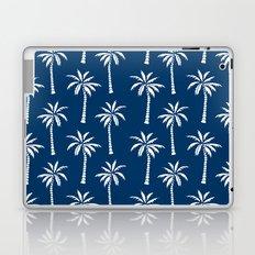 Palm trees navy tropical minimal ocean seaside socal beach life pattern print Laptop & iPad Skin