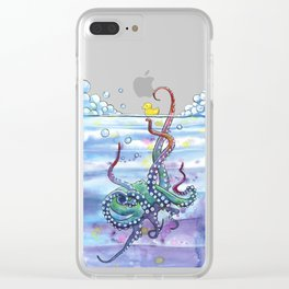 Bath Time Octopus Clear iPhone Case