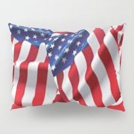 Patriotic American Flag Abstract Art Pillow Sham