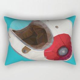 Bell Bullitt Cafe Racer Helmet Polygon Art Rectangular Pillow