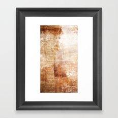 Mémoire rouillée Framed Art Print