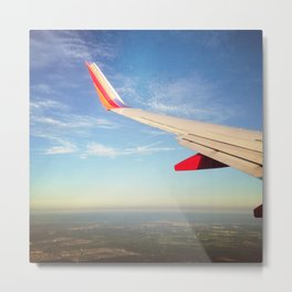 Flying the Friendly Sky Metal Print
