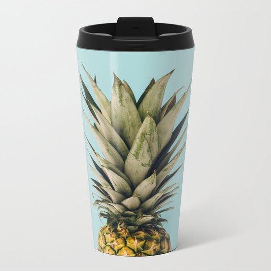 pineapple Metal Travel Mug