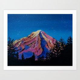 Mount Rainier Glow Art Print