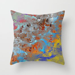 autumn fresh rainy days Throw Pillow