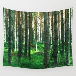 Green Forest Wall Tapestry