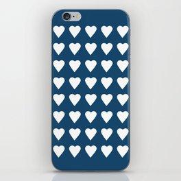 64 Hearts Navy iPhone Skin