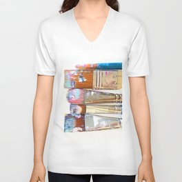 Five Paintbrushes Minimalist Photography Unisex V-Neck