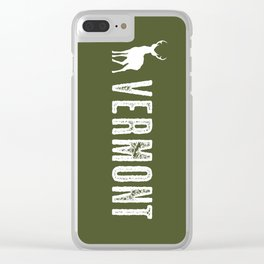 Deer: Vermont Clear iPhone Case