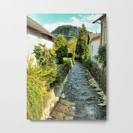 Light on a River, Salzburg Metal Print