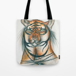 Moon Tiger Tote Bag