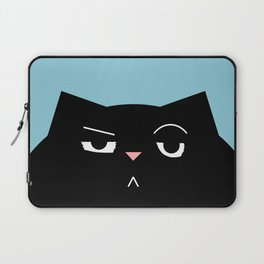 The Boss - Black Cat Illustration Laptop Sleeve