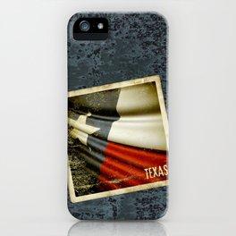 Grunge sticker of Texas (USA) flag iPhone Case
