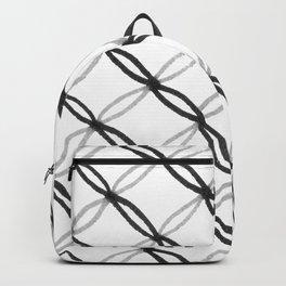 Leafy Grate Pattern Backpack