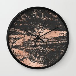 Marble Black Rose Gold - Dope Wall Clock