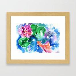Watercolor Goldfish 2 Framed Art Print