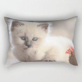 #Cute #Holy #Burma #cat #puppy Rectangular Pillow