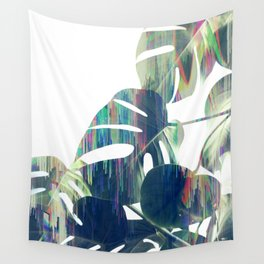 Magic Monstera Leaves Wall Tapestry