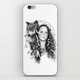 Heather / Black & white iPhone Skin