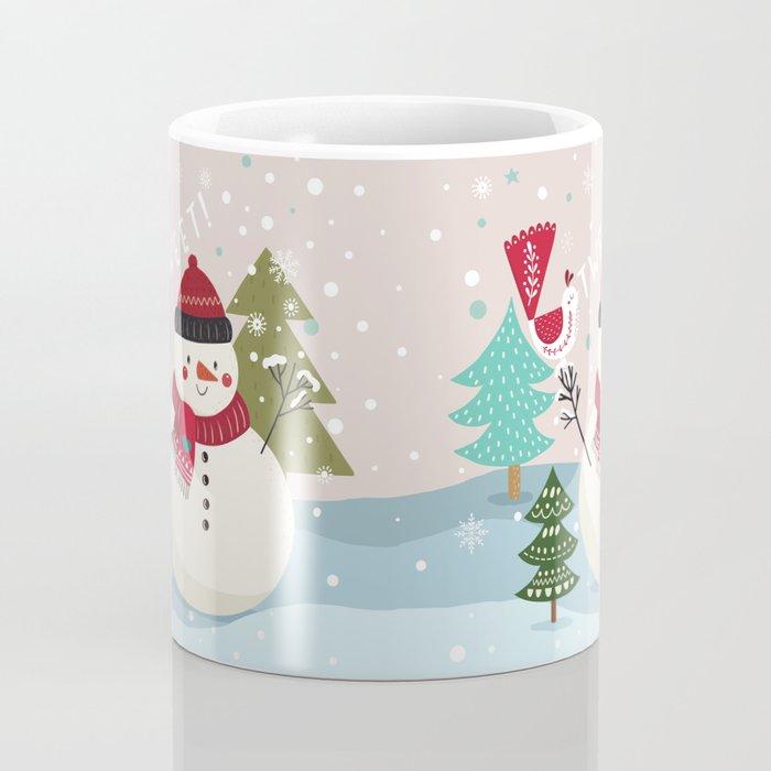 The Sweet Song Of Winter Friends Coffee Mug
