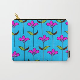 Genevieve - Blue and Pink Carry-All Pouch