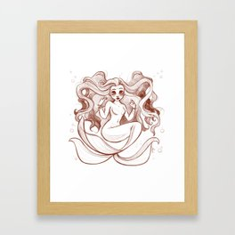 Goldfish Mermaid Framed Art Print
