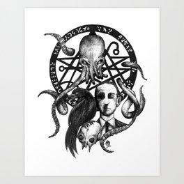 H P Lovecraft fanart Art Print