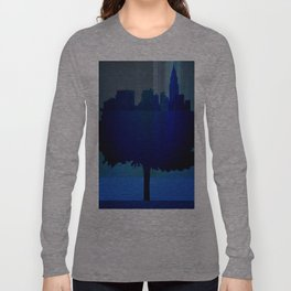 Point of view on the city blue Long Sleeve T-shirt
