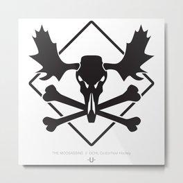 THE MOOSASSINS  //  Dchl Co-Ed Floor Hockey Metal Print