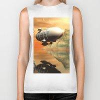 led zeppelin Biker Tanks featuring Zeppelin by nicky2342