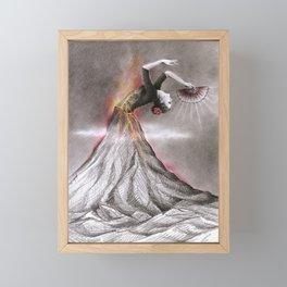 Dancing Volcano Framed Mini Art Print