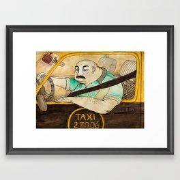 Taxi de Buenos Aires Framed Art Print
