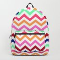 Chevron Zigzag Multicolor by staypositivedesign