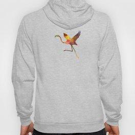 Flamingo 02 in watercolor Hoody