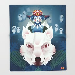 Princess Mononoke Throw Blanket