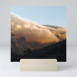 Crowned in clouds Mini Art Print