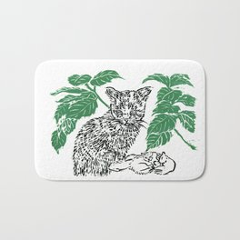 woodblock print Bath Mat