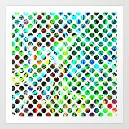 Fluid Dot Art Print