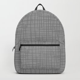 Grunge Basket Weave Line Pattern Pantone 2021 Color Of The Year Ultimate Gray Backpack