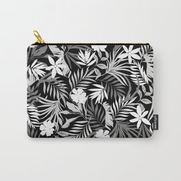 Tropical Floral - Monochrome Carry-All Pouch