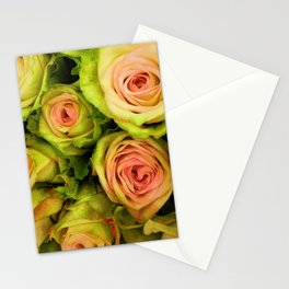 Green & Pink Bouquet Stationery Cards