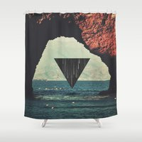 portal Shower Curtains featuring Portal by maysgrafx