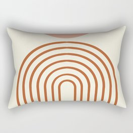 Full moon rainbow Rectangular Pillow