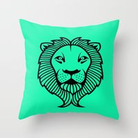 the lion king Throw Pillows featuring Lion King by ArtSchool