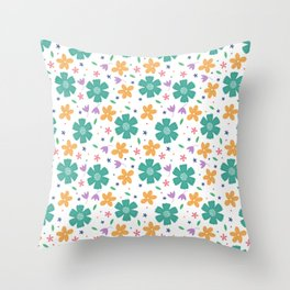 Floral Spring Time Pattern  Throw Pillow