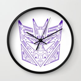 Decepticon Tech Purple Wall Clock