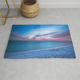 If By Sea - Sunset and Emerald Waters Near Destin Florida Rug
