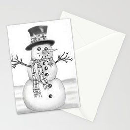 the snowman Stationery Cards
