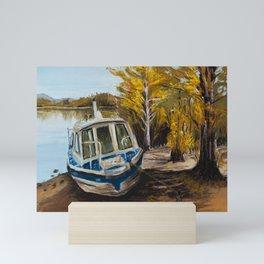 Pastel Painting | Listening to the silence of autumn Mini Art Print